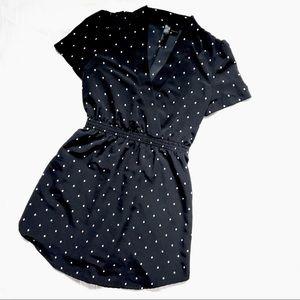 Petticoat Alley Polka Dot Wrap Dress Size M